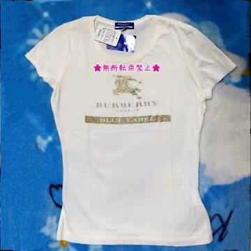BURBERRY バーバリー ブルーレーベル ホース 柄 Tシャツ 未使用 38号 M