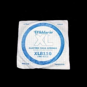送料無料 ダダリオ D'Addario XLB110 4弦 ベース弦 1本 バラ売り