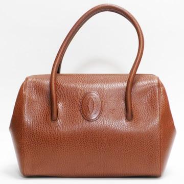 Cartierカルティエ ハンドバッグ レザー 赤茶系 良品 正規品