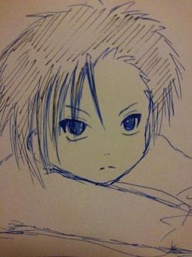 滋賀県の男の子�Aオリジナル自作イラスト原画