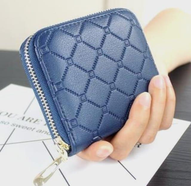 ショートウォレット 二つ折りミニ財布 コインケース  < 女性ファッションの