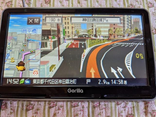 SANYOゴリラ大画面7V型大容量の16G  NV−SD740DTナビ送料無料 < 自動車/バイク