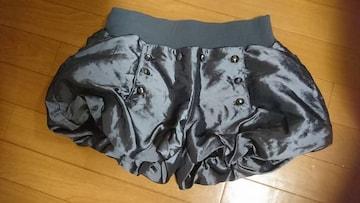 美品 ショートパンツ ハーフパンツ ズボン モード系 サテン風 カボチャ バルーン