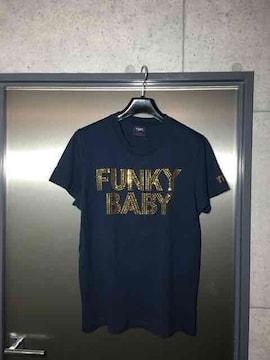 TMTティーエムティー/FUNKY BABY/ラインストーンTシャツ/M