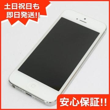 ●安心保証●判定○●美品●iPhone5 16GB ホワイト●白ロム