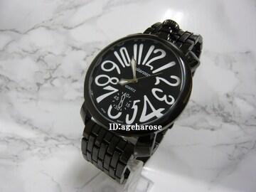 新品 腕時計 48mm ブラック/ガガミラノ好きに
