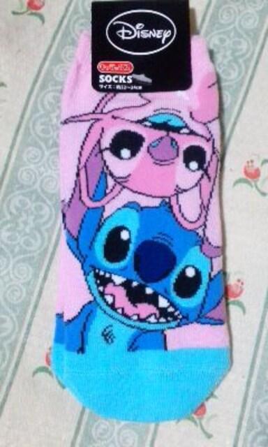 新品ディズニーフレンズ靴下3足セットスティッチプーミニーマウス < アニメ/コミック/キャラクターの
