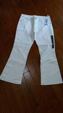 新品★サイズ合えば男女OK!?「ホワイトジーンズ」サイズ77〜85