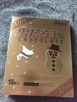 ♯季節限定♯石屋製菓 雪だるまくんチョコレート 北海道ミルク☆