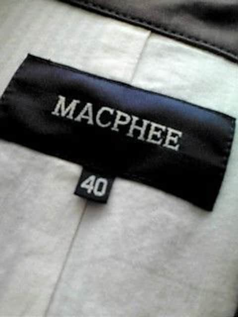 即決 送料込み MACPHEE by トゥモローランド コットンジャケット < ブランドの