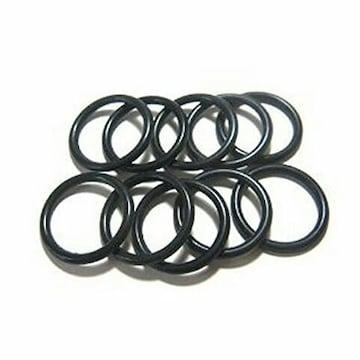 ラバーリング ゴムリング 指輪 (16号) 黒 6本SET