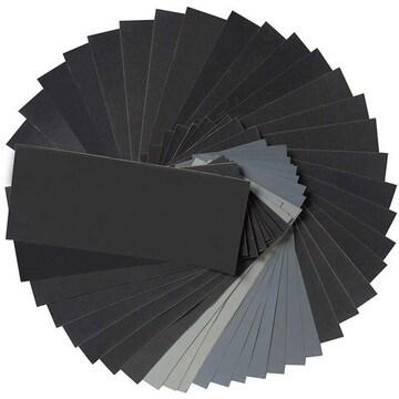 サンドペーパー 紙やすり 耐水ペーパー 研磨紙 木工 48枚入り