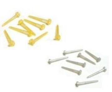 差込 樹脂ポストピアス 5ペア■金銀