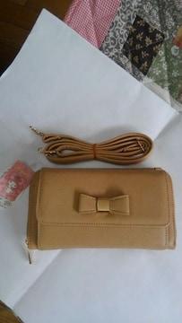しまむら×リズメロ(マイメロ)コラボ お財布バッグ ベージュ系