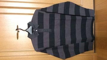 激安70%オフマークジェイコブス、ラガーシャツ、長袖ポロシャツ(新品タグ、黒灰、M)