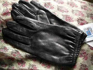ポルトラーノ社皮革使用●20黒ショート丈ひつじ皮手袋