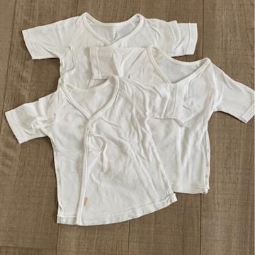赤ちゃんの城3枚セット美品短肌着50新生児〜出産予定の方