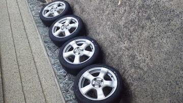 軽carにバリ溝タイヤ165/50R1515×5.5J pcd100 +43