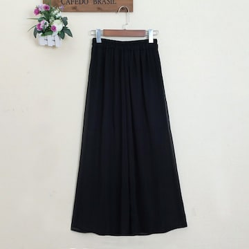 レディーススカート ロングスカート ワイドパンツ 体型カバー