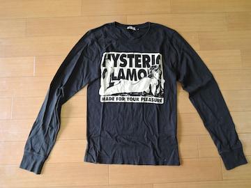 ヒステリックグラマーHYSTERIC GLAMOURロンTシャツ黒Sガール