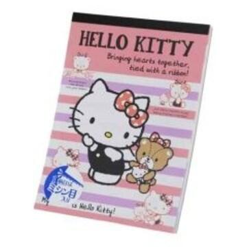キティちゃん便利なミシン目入り*メモ帳(4柄x各30枚)<A6サイズ>
