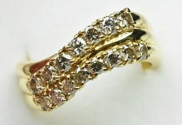 K18 ゴールド 合計 1.00ct ダイヤモンドリング 11.5号