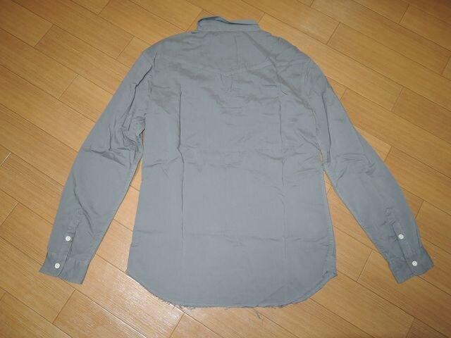 新品ロンハーマンRon Herman加工ウエスタンシャツL灰定価28000 < ブランドの