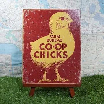 新品【ブリキ看板】Chick/ひよこ Farm Bureau Co-op Chicks