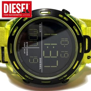 美品 1スタ★DIESEL ディーゼル 大きなデジタルメンズ腕時計