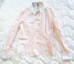 新品 韓国 2me 白 ピンク ブラウス 91-165 Lサイズ