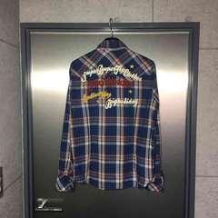 TMTティーエムティー/限定モデル刺繍入り長袖チェックシャツM
