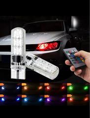 T10 T16 LED RGB リモコン 色選択 ポジション球 ヘッドライト