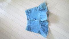 イング*可愛い裾ふんわりスカート*デニム☆S