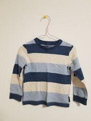 青系ボーダーの長袖Tシャツ95