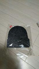 supreme 反射黒 Beanie black ビーニーシュプリーム ニット帽