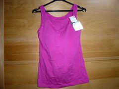 ユニクロ女性ブラトップMカップ付きタンクトップ紫ピンク新品