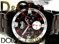 極美品【真正証明・コマ付】1スタ★ドルガバ/D&G【クロノ】腕時計