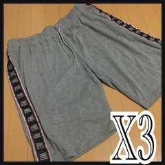 X3(5L)英字ハーフパンツ新品/MCN-807