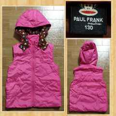 PAUL FRANK ポールフランク 130 中綿ベスト 超美品 ナルミヤインターナショナル