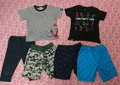 子供服6点セット☆ユニクロ/HUSHUSH/レゴ/Tシャツ/半ズボン/100