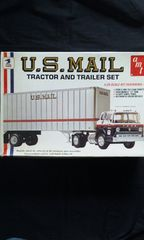 AMT U.S.MAIL TRACTOR AND TRAILER SET