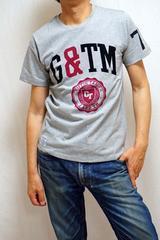 75%OFF!!新品★カレッジ プリント半袖Tシャツ(M)グレー