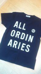 ALL ORDINARIES/オールオーディナリーズ*ブランドロゴ半袖Tシャツ ネイビー