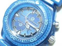 3958/タウン&カントリーダイバー型モデル男女兼用腕時計ナイロンブレスレット