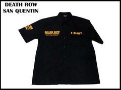 ローライダ-XXXXL(4XL)刑務所ワークシャツ DEATHROWデッスローBBOYビッグサイズ