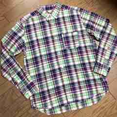 美品BEAMS デザインチェックシャツ ビームス