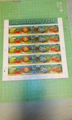 アメリカ水族館切手4種類33c×20枚♪