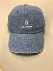 定形外送込 SUBCITY ロゴ刺繍 デニム生地 CAP ブルー フリー