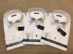 新品・長袖ワイシャツ ダブルカラー 3枚セット LLサイズ
