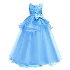 【ブルー】子供ロングドレス フォーマル